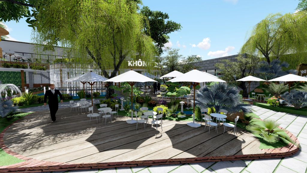 Thiết kế quán cafe sân vườn Tp.HCM