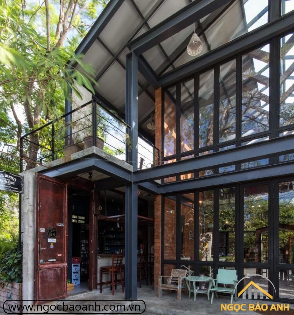 thiết kế thi công quán cafe hiện đại