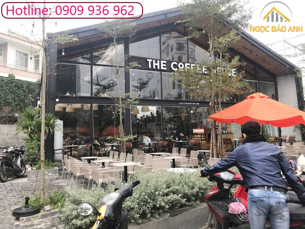 thi công cafe Factory steel