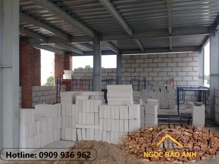 nhà thép lắp ghép xây gạch nhẹ