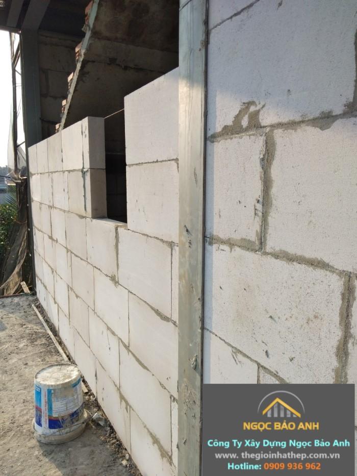 nhà yến bằng thép tiền chế kết hợp gạch chưng áp