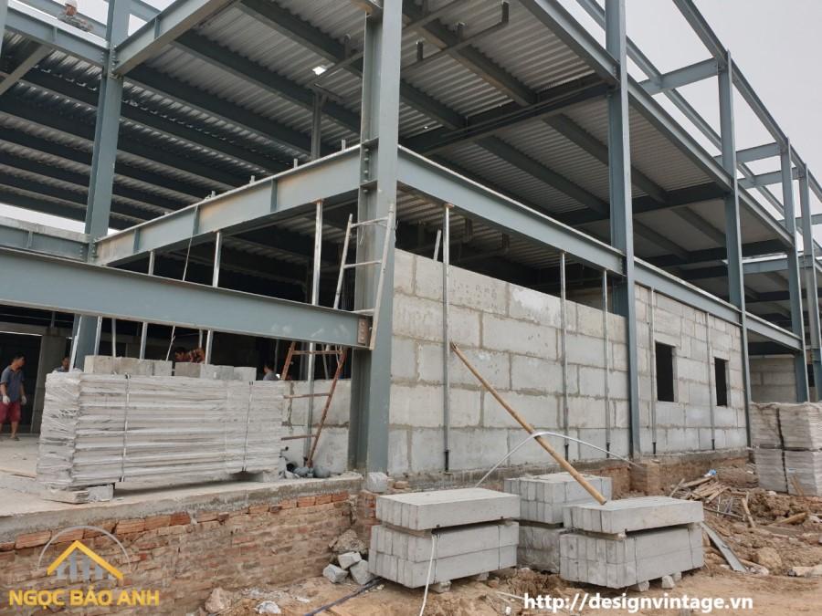Xây dựng nhà tiền chế tại Long An