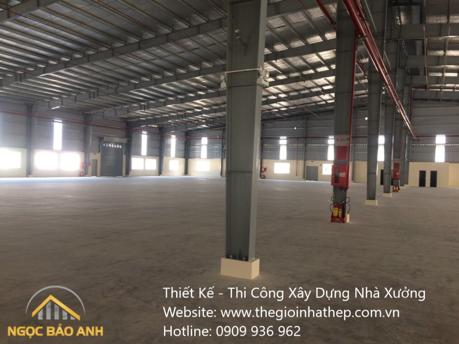 Xây dựng nhà xưởng tại KCN Bàu Bàng