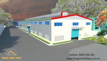 Thi công xây dựng nhà xưởng Bình Dương 5000m2