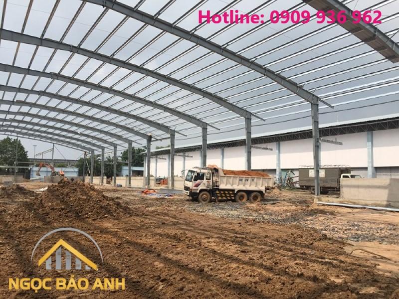 xây dựng nhà xưởng 9.000m2 tại Long An