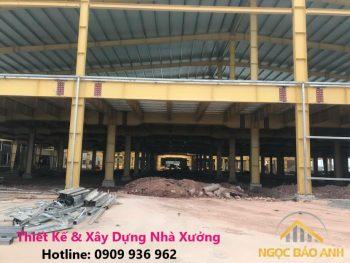 Xây nhà kho tại KCN Lê Minh Xuân