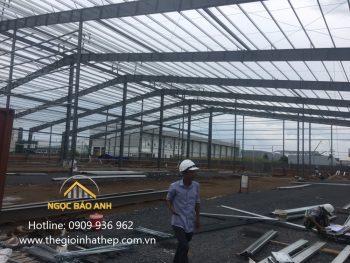 báo giá xây nhà xưởng 105mx130m