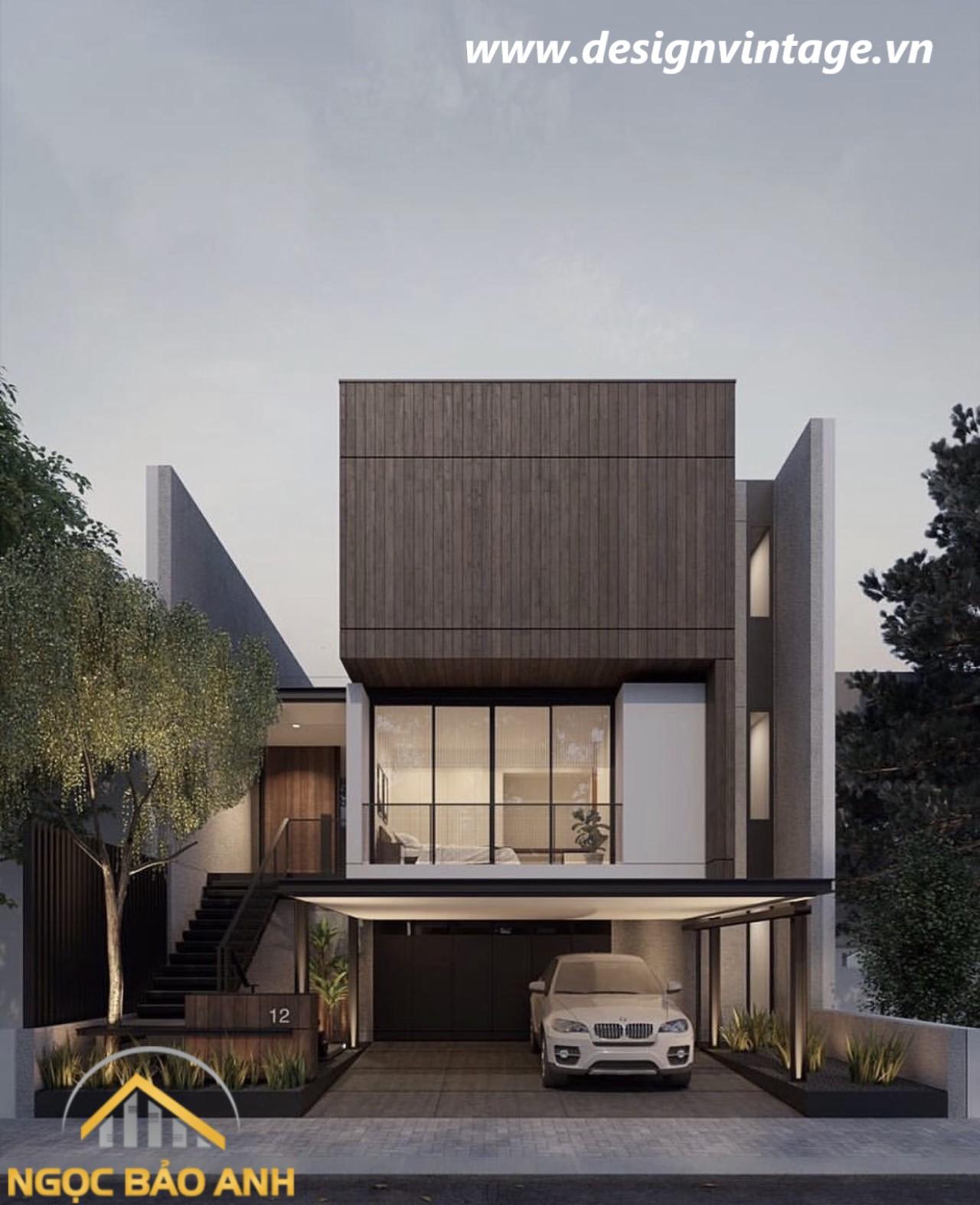 mẫu nhà phố 2 tầng đẹp