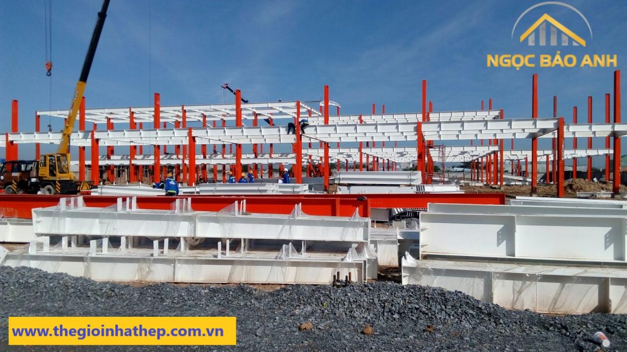 Nhà xưởng kết cấu thép tiền chế Bình Dương