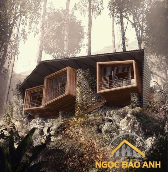 mẫu thiết kế nhà trên đồi