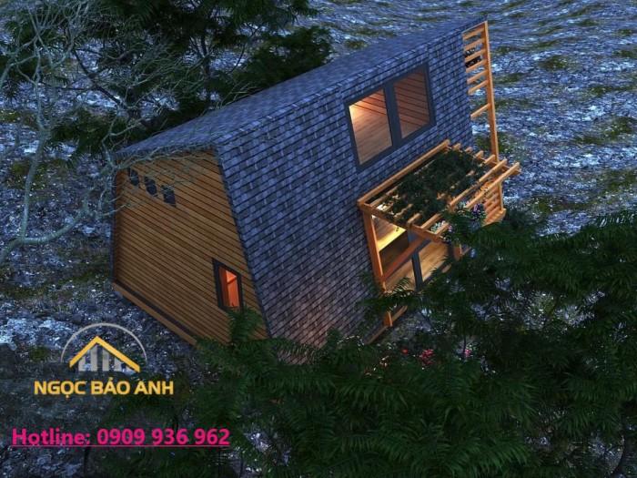 Nhà gỗ đẹp tại Lâm Đồng