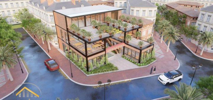 Tư vấn thiết kế quán cafe tiền chế 3 tầng