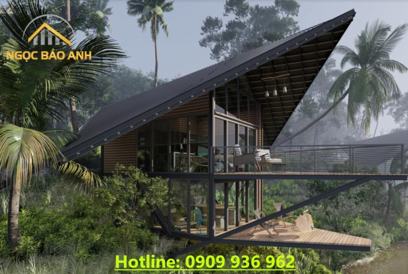 Thiết kế nhà bên bờ hồ