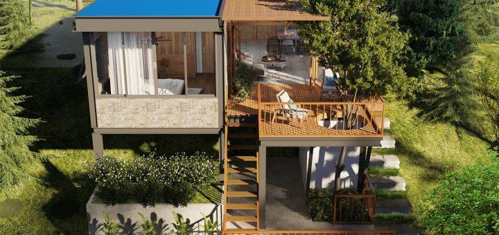 Thiết kế nhà trên đồi dốc