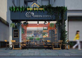 thiết kế quán cà phê xinh
