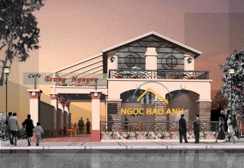 thiết kế xây dựng quán coffee