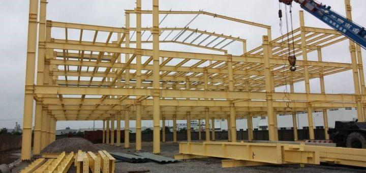 xây dựng khung nhà thép 3 tầng Tại Bình Chánh