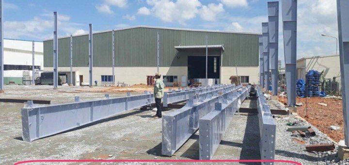 xây dựng nhà xưởng tại KCN Long Hậu Tỉnh Long An (2)