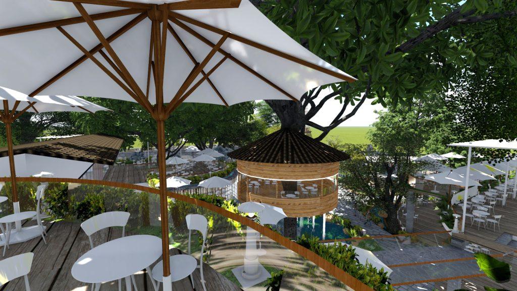 Thiết kế quán cafe sân vườn Tân Phú
