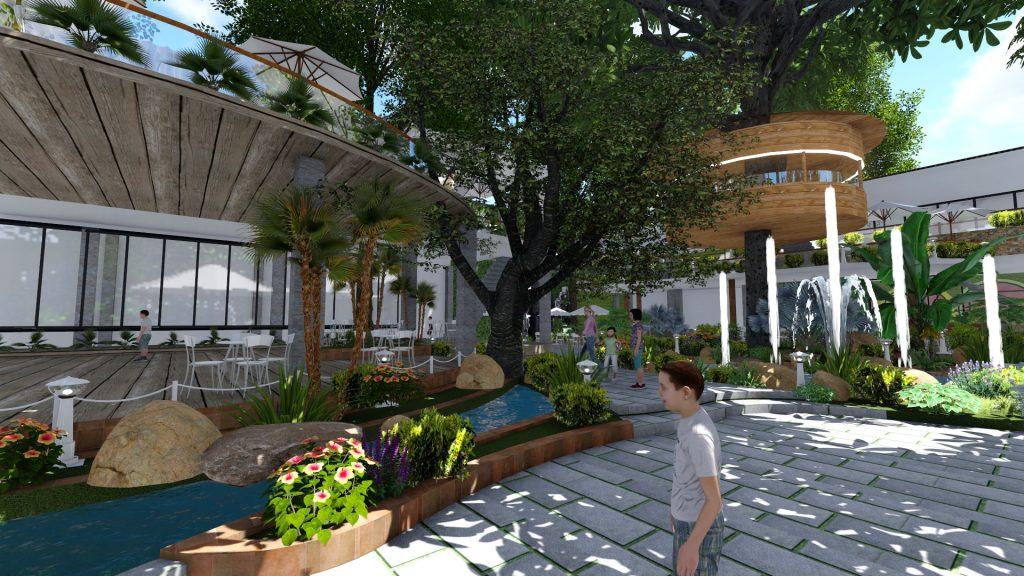 Thiết kế quán cafe sân vườn Tại Quy Nhơn'