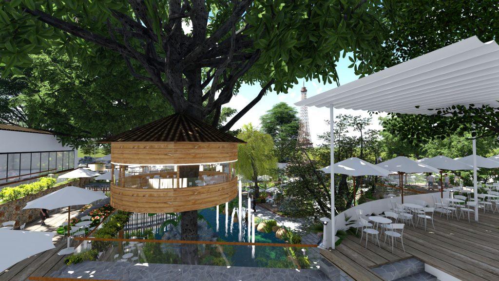 Thiết kế quán cafe sân vườn Tại Tân Bình (3)