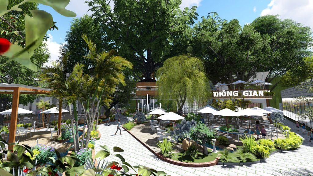Thiết kế quán cafe sân vườn tại TPHCM