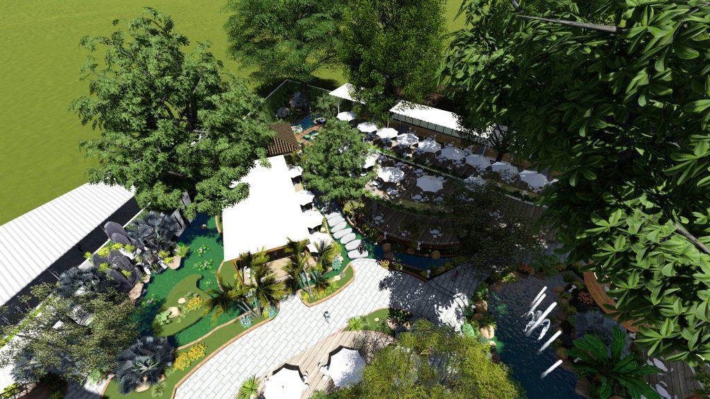 Thiết kế quán cafe sân vườn tại Tiền Giang