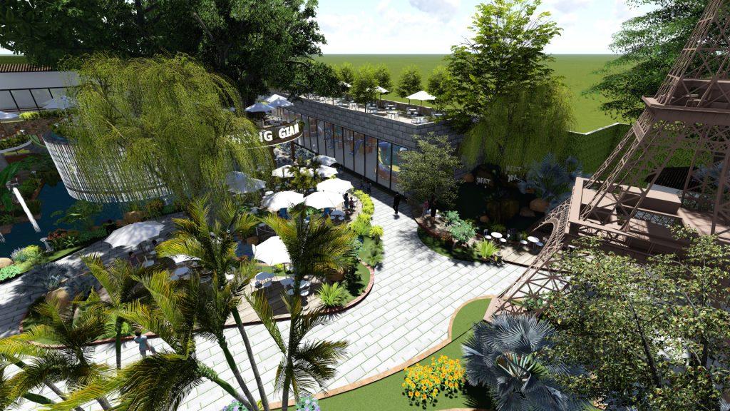 Thiết kế quán cafe sân vườn tại Vũng Tàu