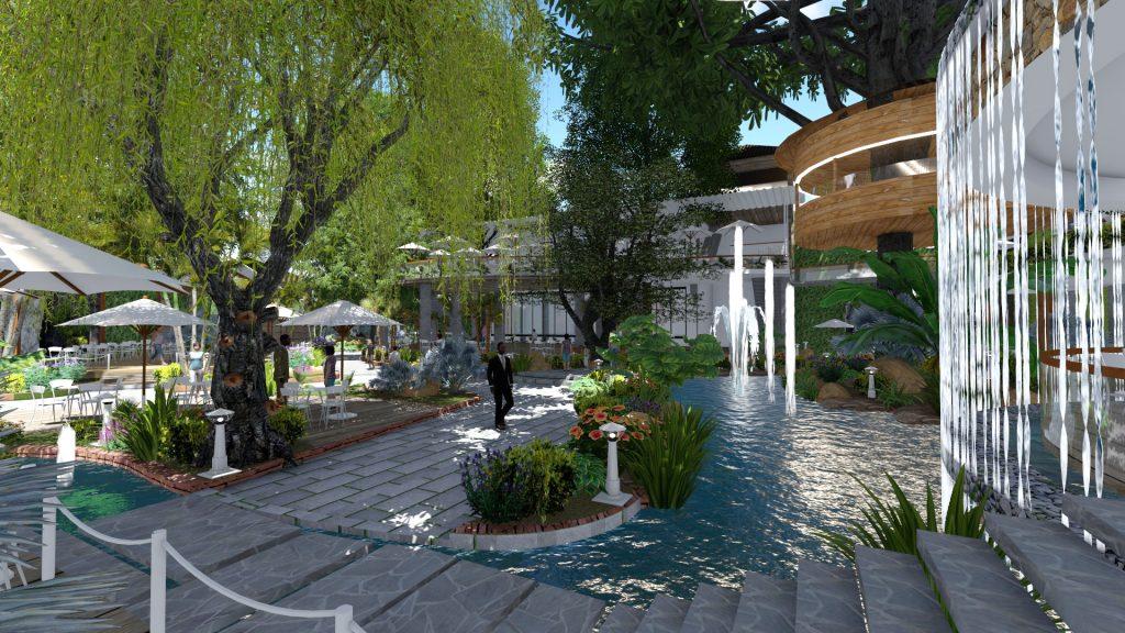 Thiết kế quán cafe sân vườn tại quận 2