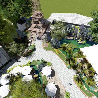 Thiết kế quán cafe sân vườn tại quận 9