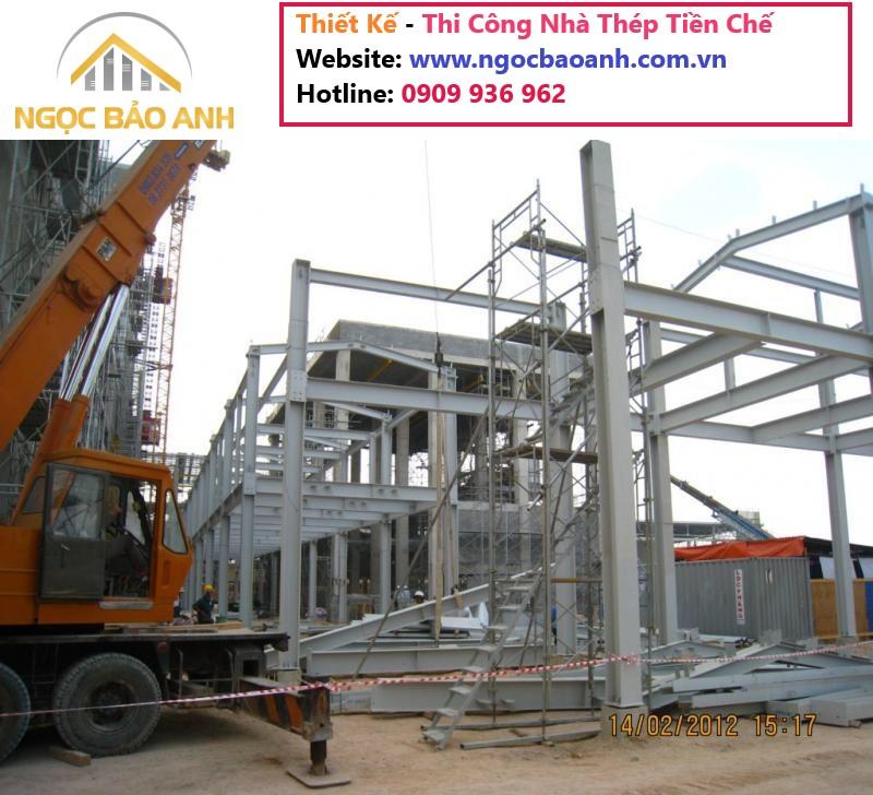 thi công lắp dựng nhà thép