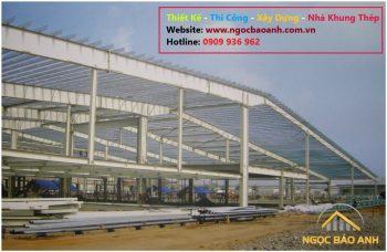 thi công nhà xưởng tại KCN Long Giang Long An (2)