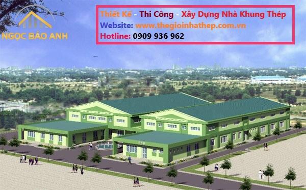 thi công nhà xưởng tại KCN Long Giang Long An (4)