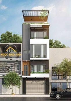 xây dựng nhà phố 3 tầng đẹp