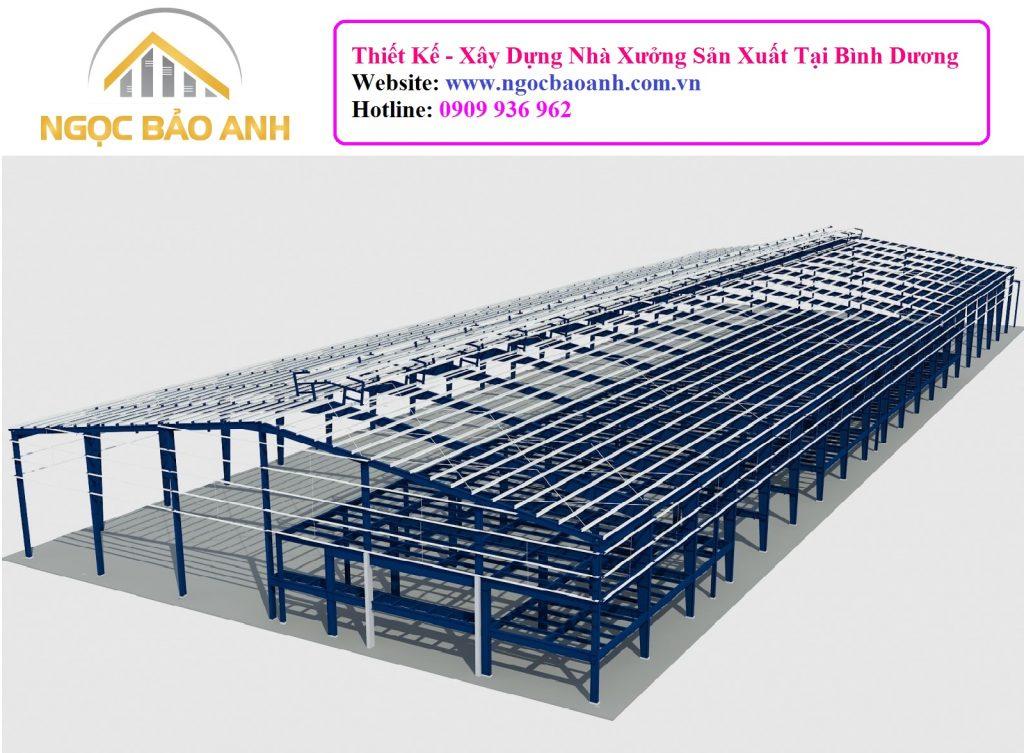 Thiết kế xây dựng nhà xưởng tại Đức Hòa Long An
