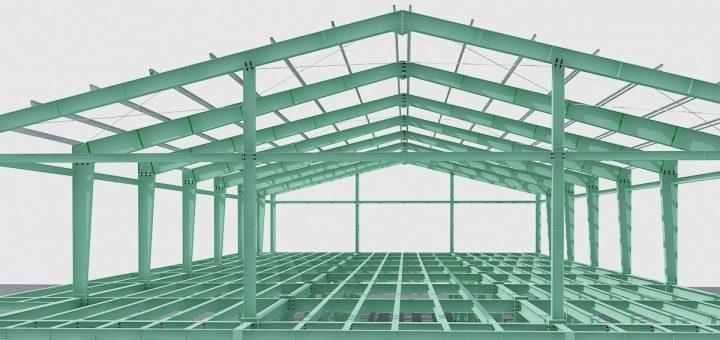 Xây dựng nhà xưởng 2 tầng tại Tân Bình