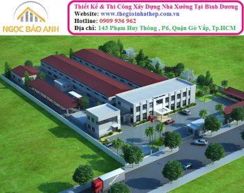 xây dựng nhà xưởng tại Bình Chánh