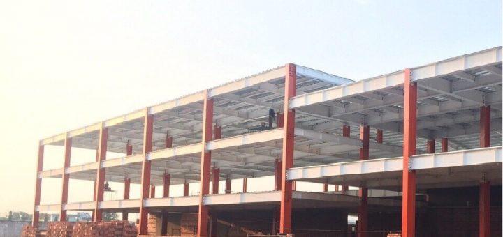 Xây dựng nhà khung thép 3 tầng