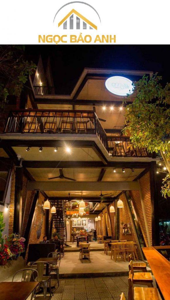 Xây dựng quán cafe bằng khung thép