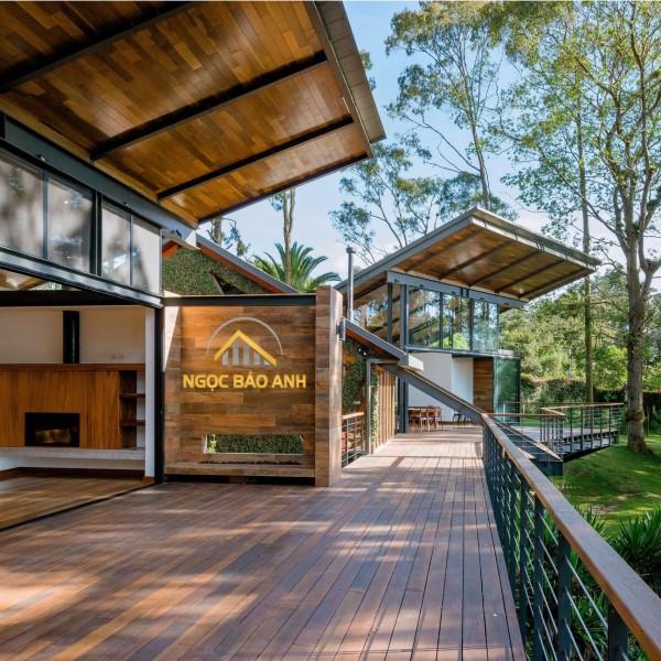 nhà vườn bằng khung thép