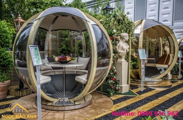 thiết kế cảnh quan cafe sân vườn