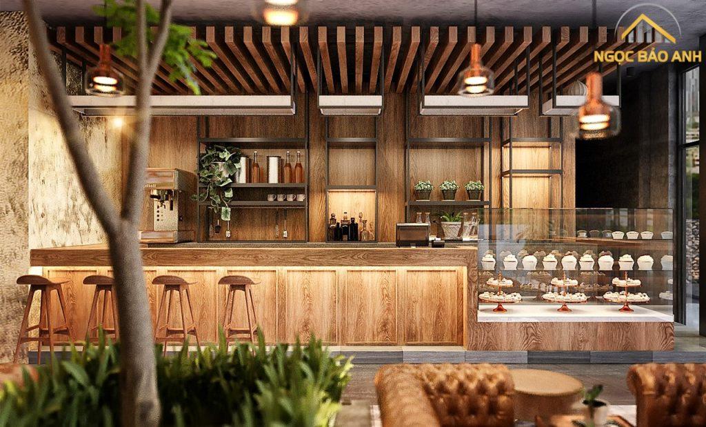 thiết kế nội thất cafe