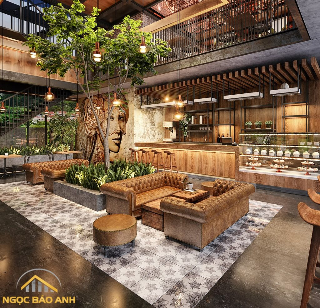 thiết kế thi công nội thất cafe