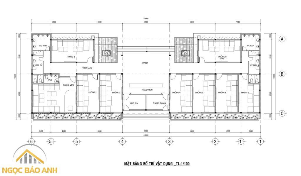 thiết kế xây dựng nhà hàng karaoke