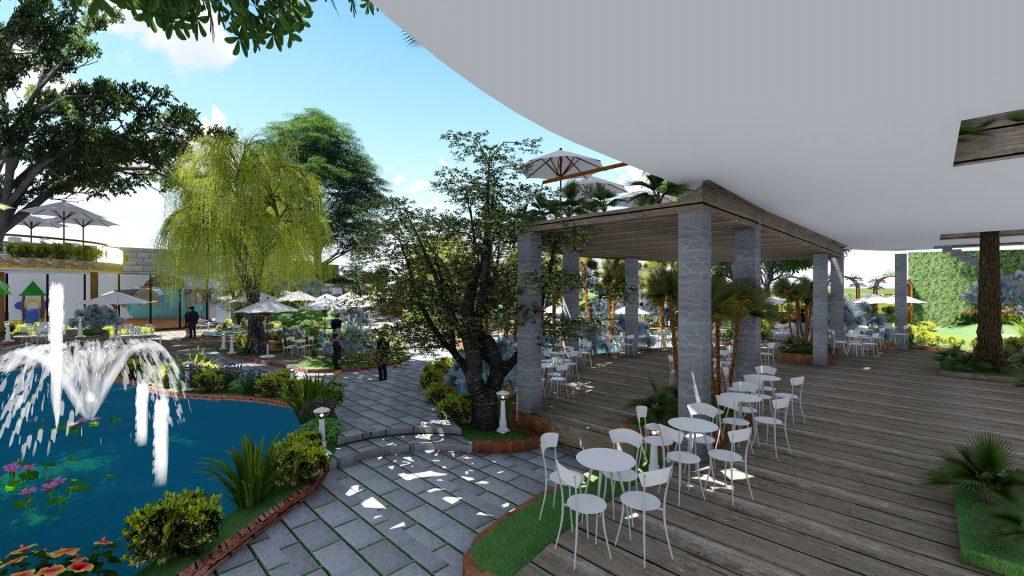 Thiết kế quán cafe sân vườn Đồng Nai