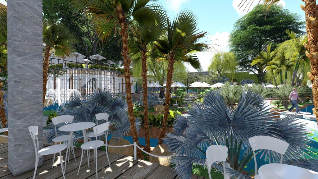 Thiết kế quán cafe sân vườn Đức Hòa Long An