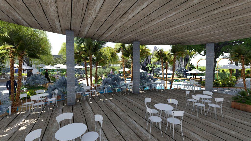 Thiết kế quán cafe sân vườn 2500m2