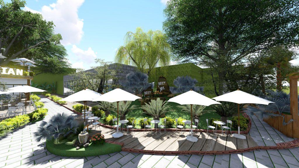 Thiết kế quán cafe sân vườn Bình Dương