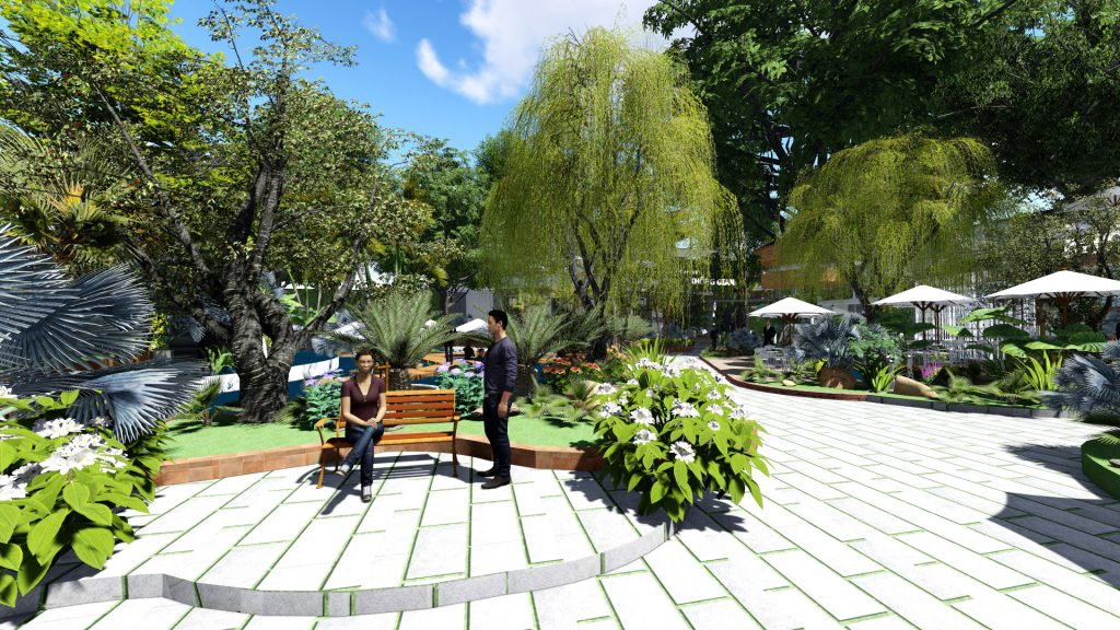 Thiết kế quán cafe sân vườn Bình Phước
