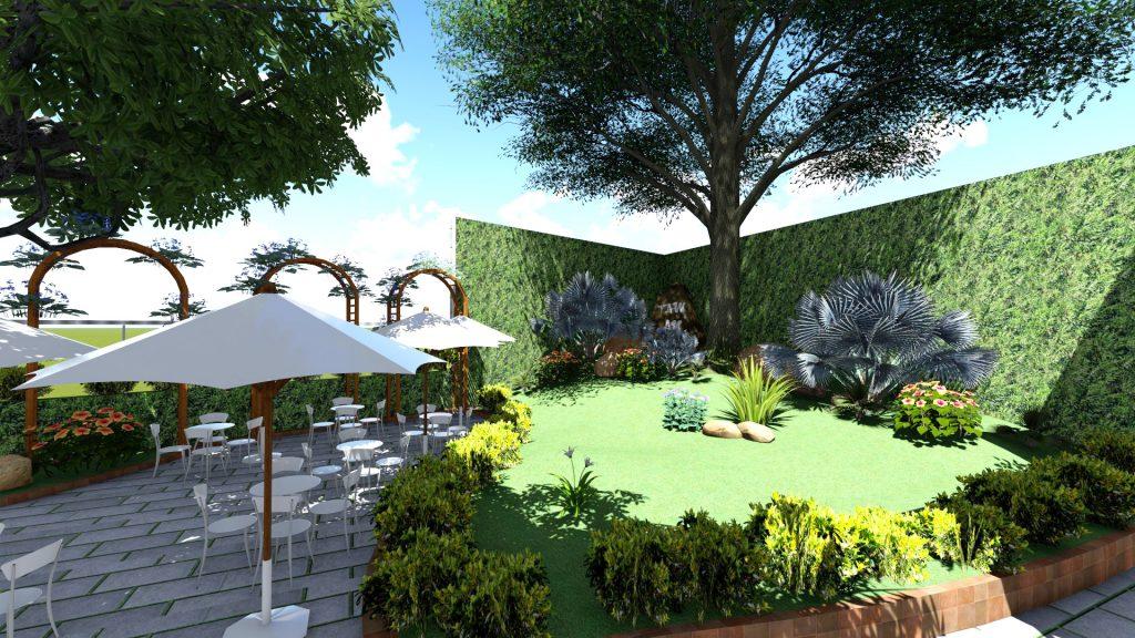 Thiết kế quán cafe sân vườn Bình Tân